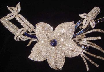large flower brooch