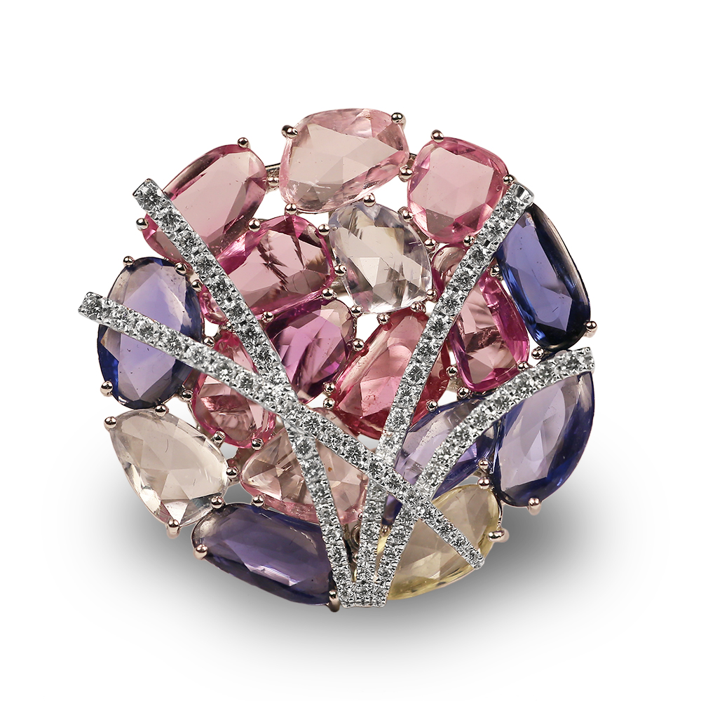 pink sapphire multicolored heather b moore