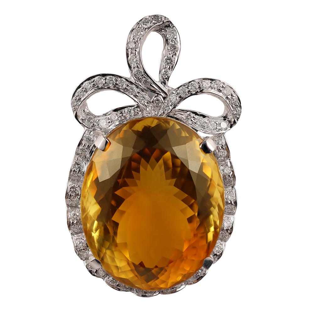 Golden topaz pendant house of kahn estate jewelers golden topaz pendant brooches aloadofball Images