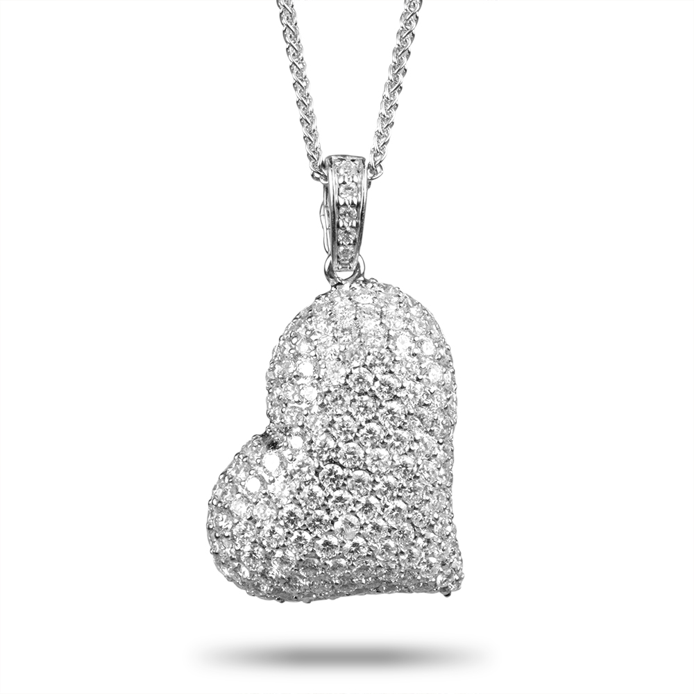 Heart shaped diamond pendant necklace house of kahn estate jewelers heart shaped diamond pendant necklace necklaces aloadofball Gallery