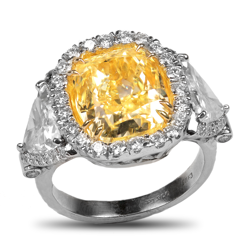 Fancy Yellow Ring - House of Kahn Estate Jewelers