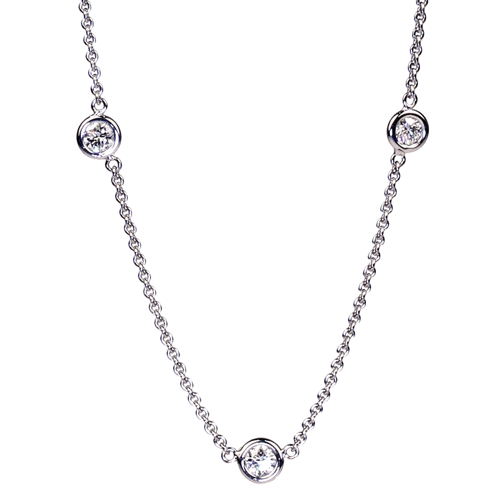 Diamonds by the yard round diamond necklace house of kahn estate diamonds by the yard round diamond necklace necklaces aloadofball Gallery
