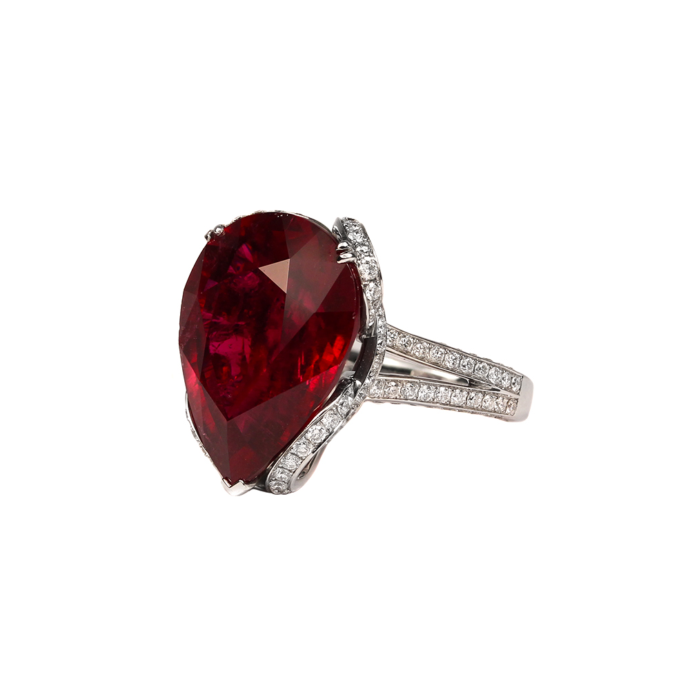 jewelry ring filled garnet men male gold anniversary for fashion pin rings ruby suohuan cz s k gift red