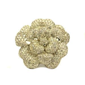 white sapphire brooch