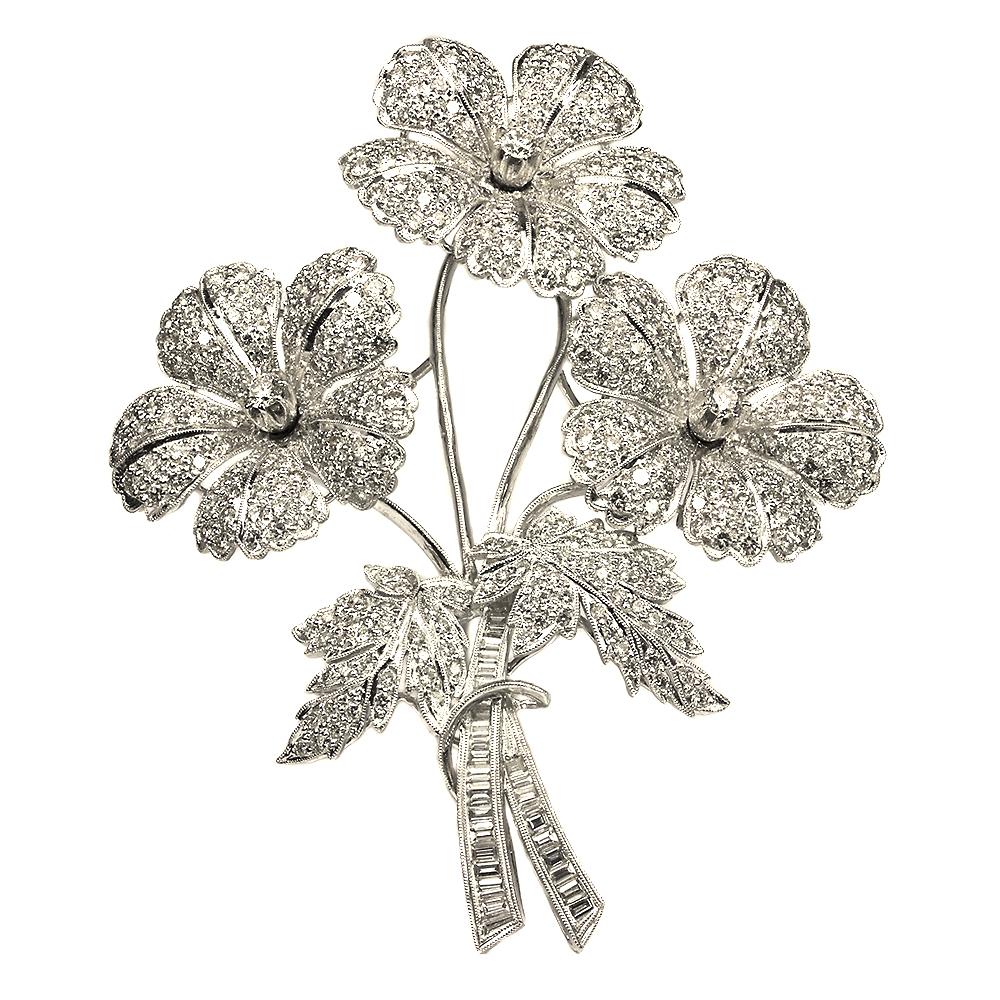 "7b7454f7b0db7 Floral ""Tremblant"" Brooch Brooches"