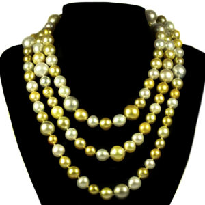 gold silver pearl necklace