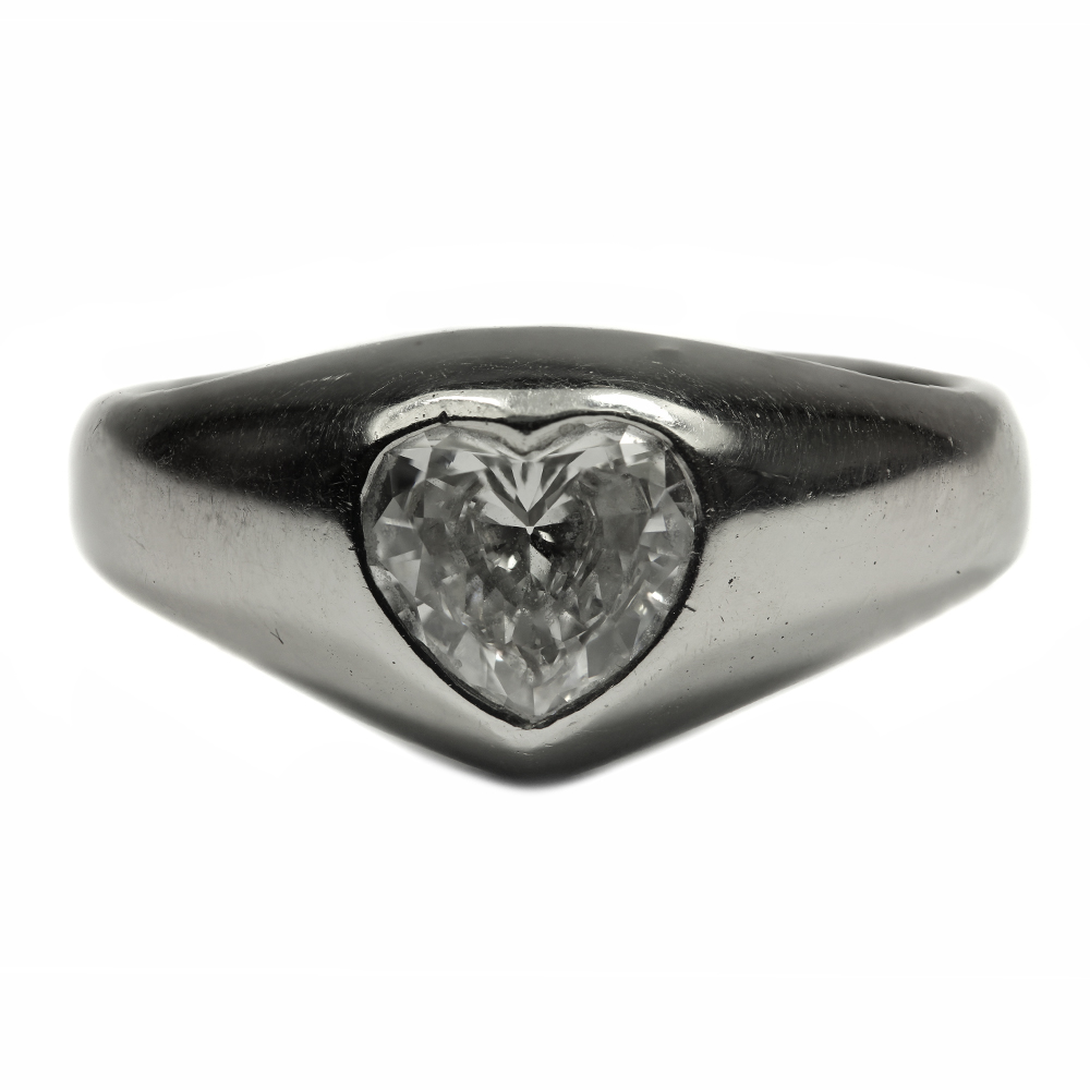d64f005c64127 Heart Shaped Diamond Ring Rings