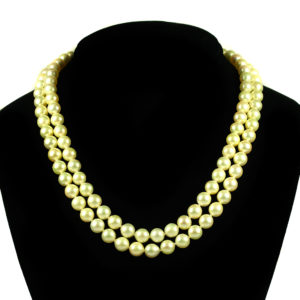 4 - 2 strand pearl necklace